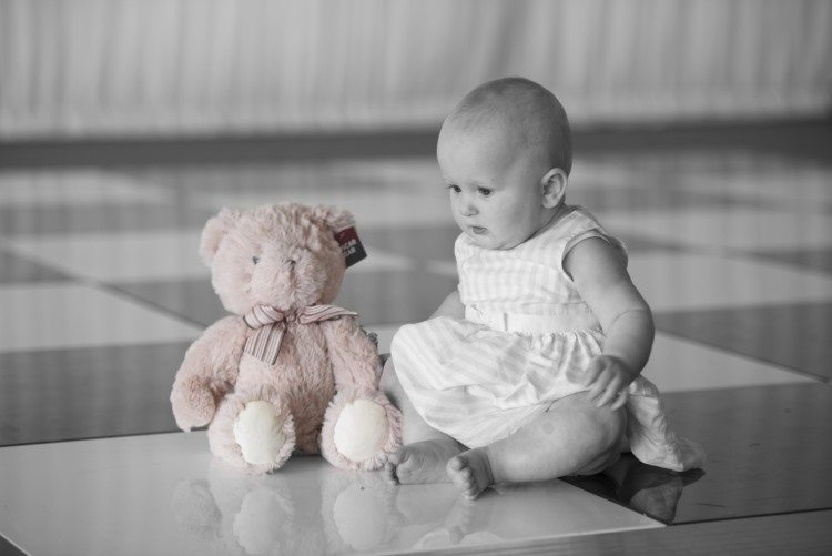 Baby Portrait with pink teddy by AF1 the derby family portrait photographer.jpg
