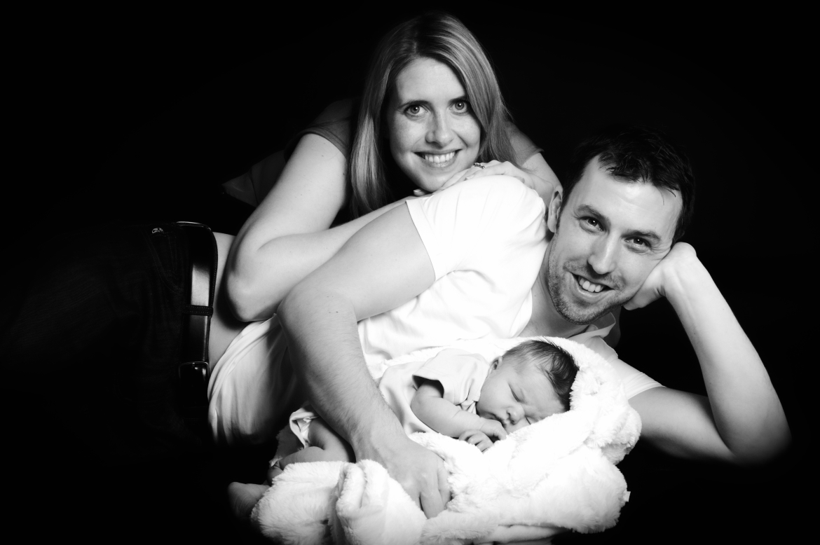 Couple with New Born baby by AF1 the derby family portrait photographer