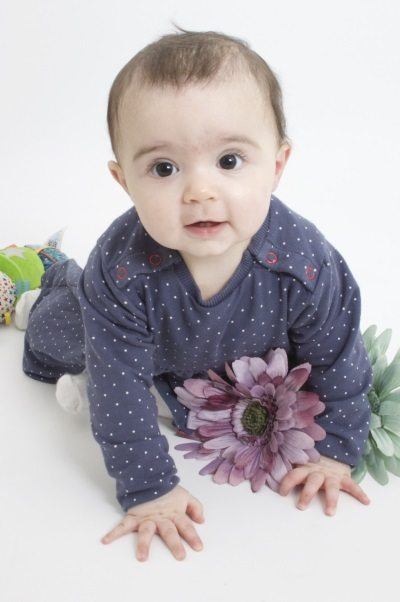 toddler portrait with flowers by the family portrait photographer in Derby - AF1