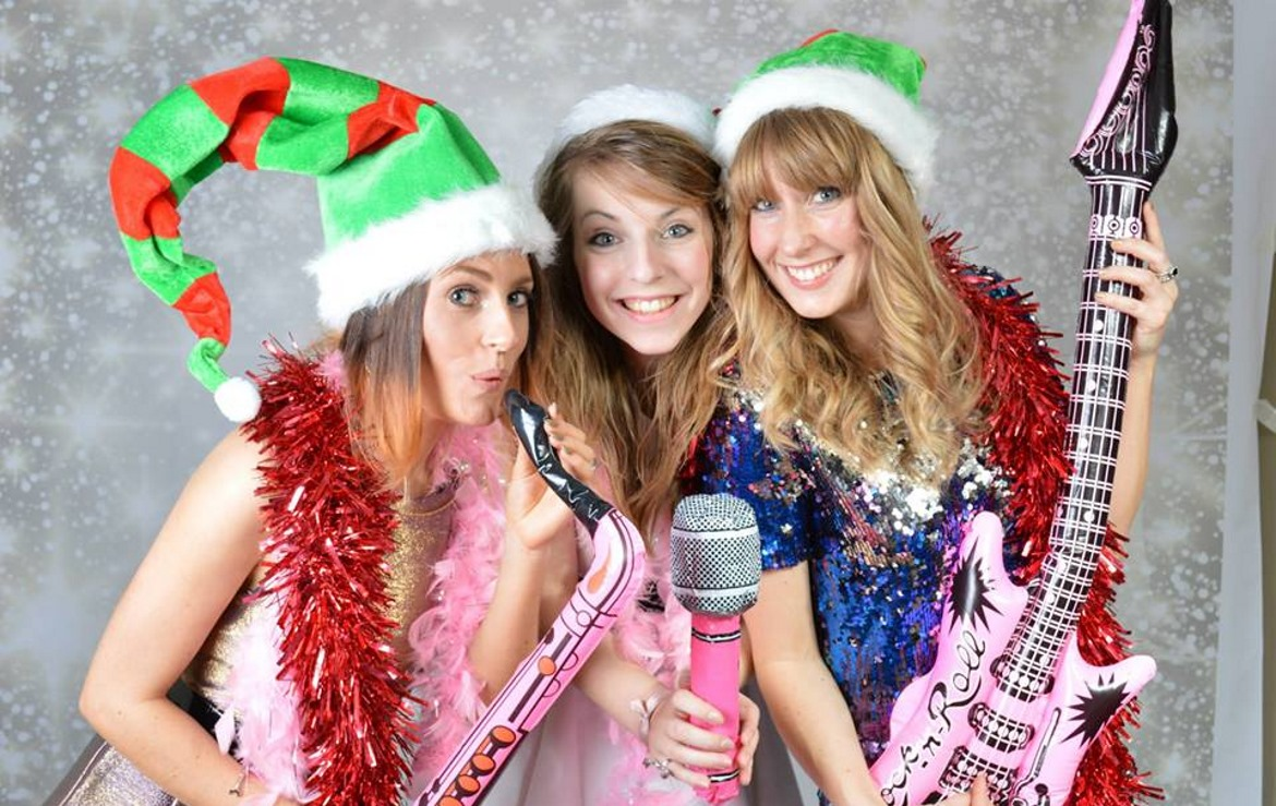 Photo Booth Hire in derby example image girls playing blow up instruments